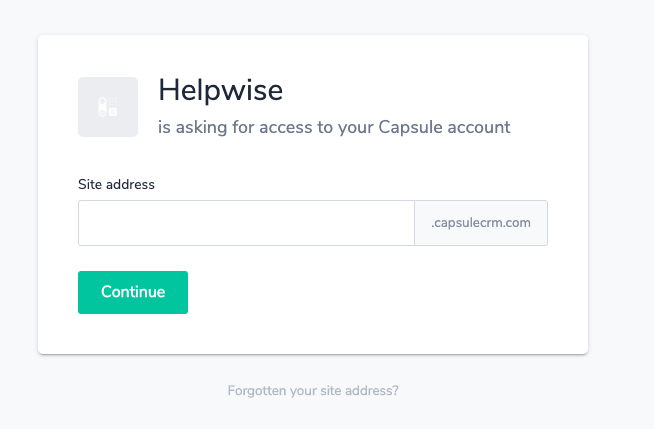 capsule crm integration helpwise