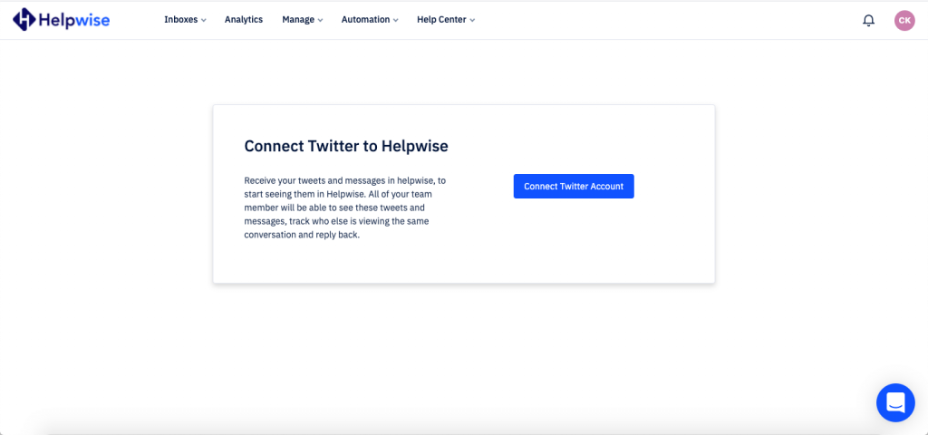 connect twitter account