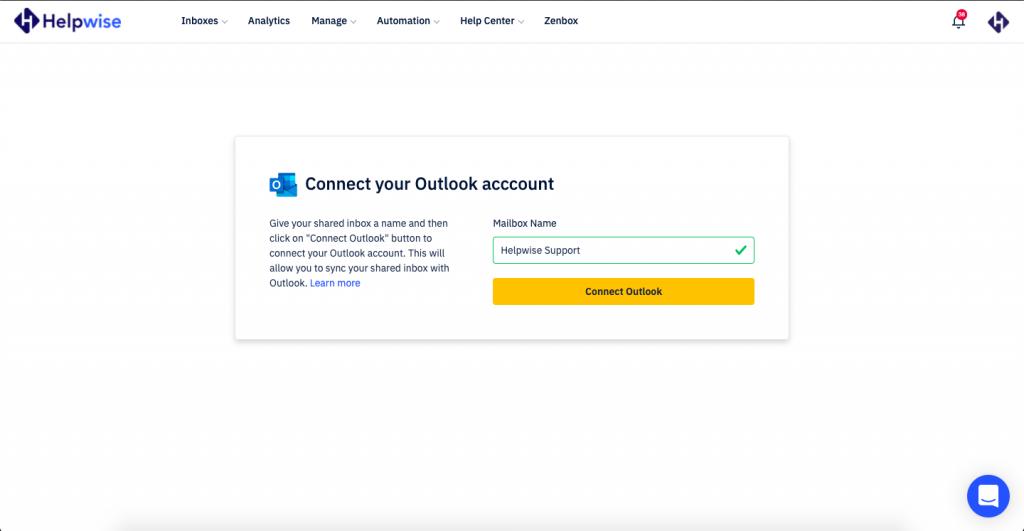 Helpwise Outlook Sync